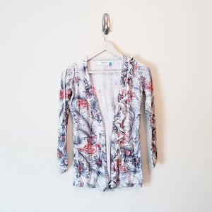 Anthro Sparrow Floral Cardigan